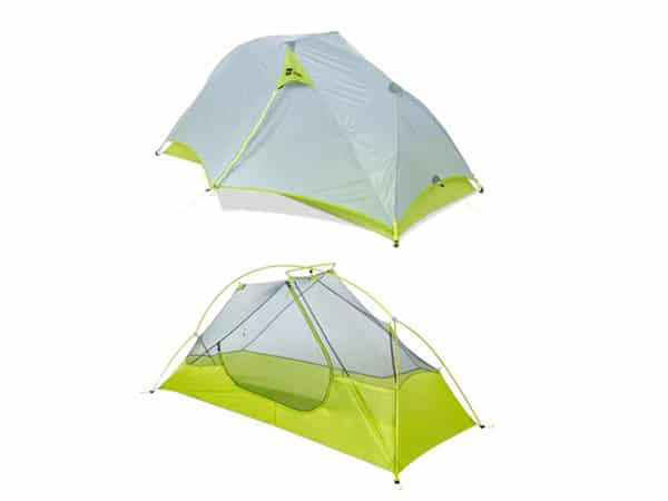 MEC Spark Tent with and without Fly