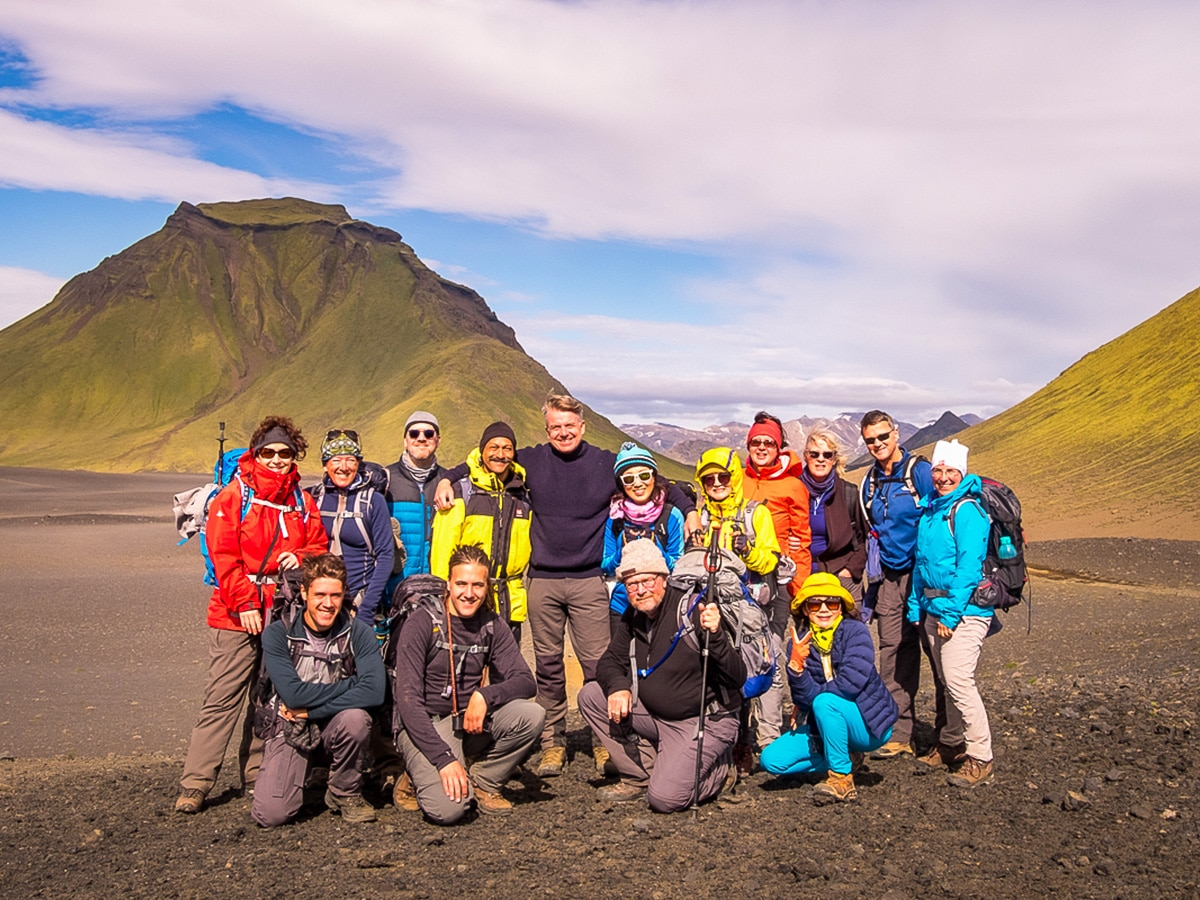 I was in the middle of the age range on the famous Laugavegur Trail in Iceland section too old