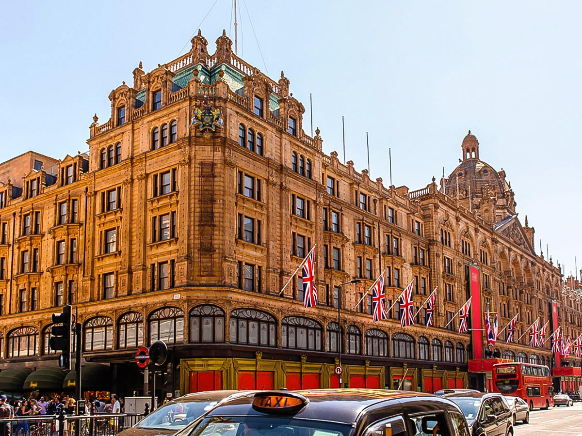 Harrods Department on Marylebone, Mayfair and Belgravia walking tour in London, England
