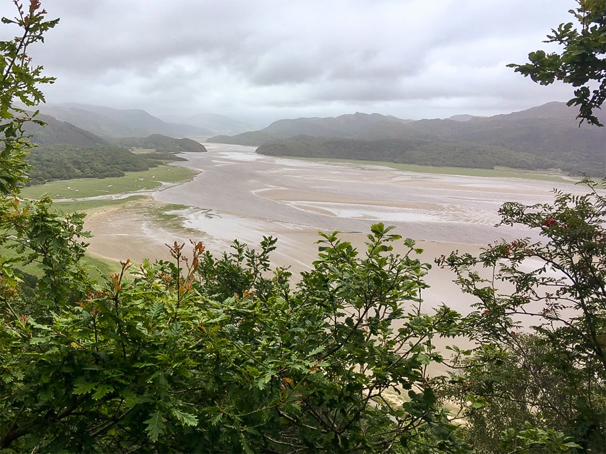 Afon Mawddach estuary on Barmouth Panorama hike in Snowdonia, Wales