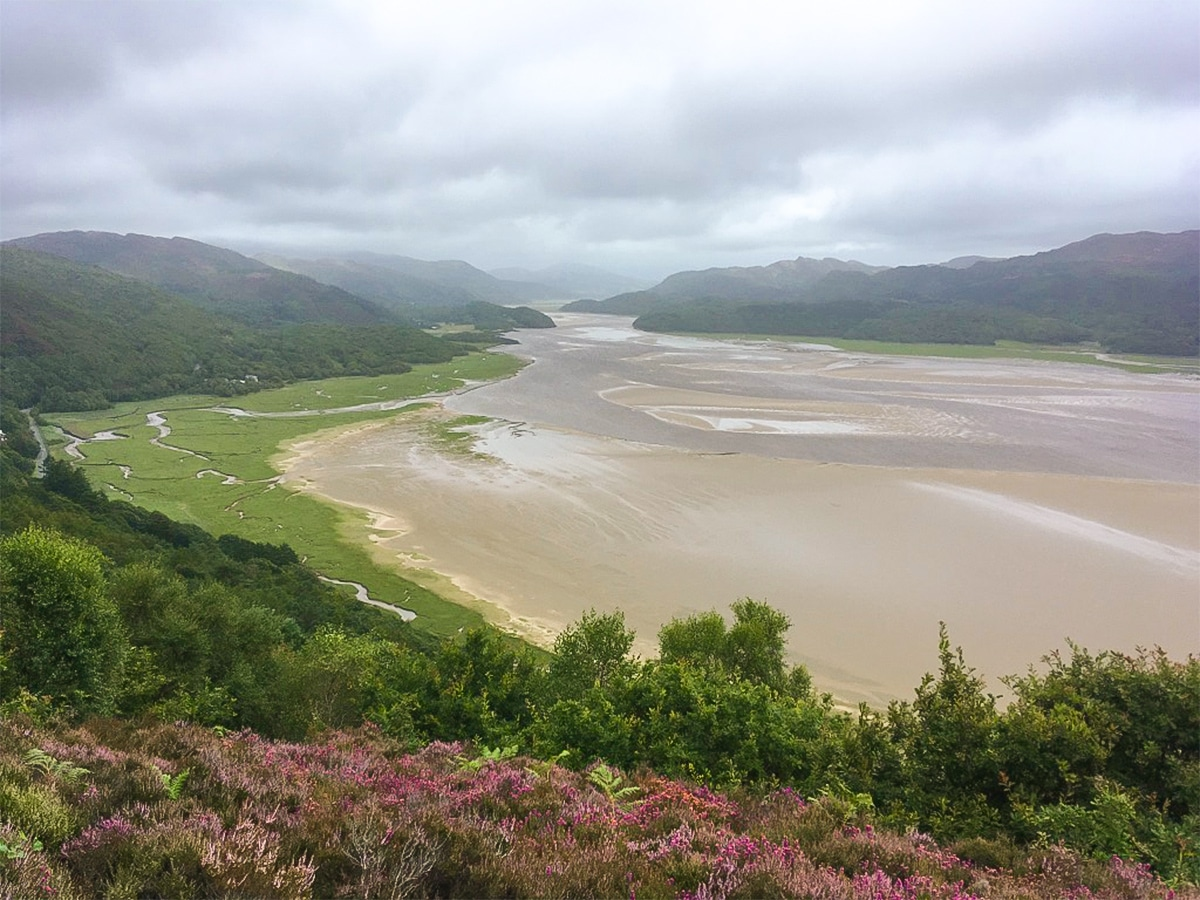 Afon Mawddach on Barmouth Panorama hike in Snowdonia, Wales