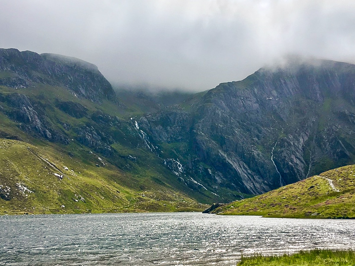 Lake Idwal on Cwm Idwal walk in Snowdonia, Wales