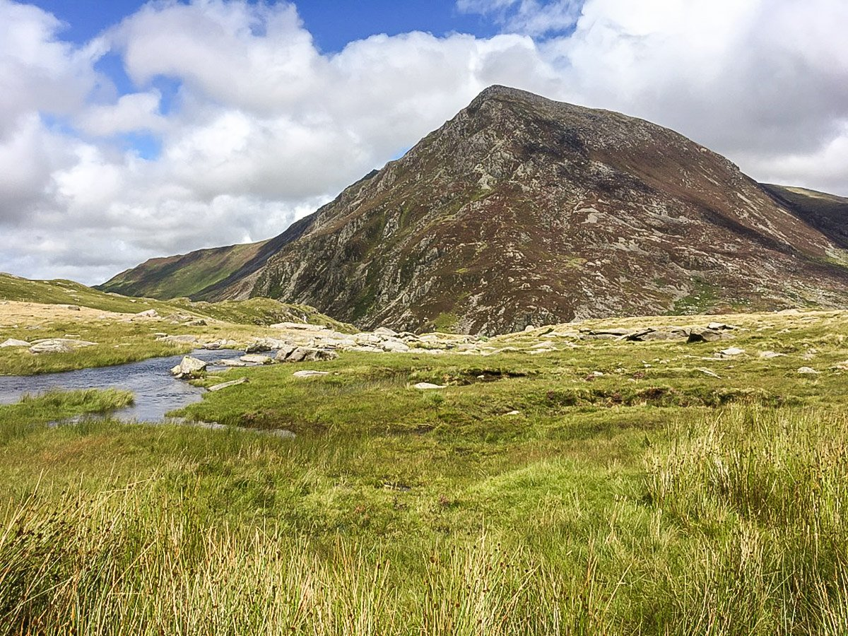 Pen yr Ole Wen on Cwm Idwal walk in Snowdonia National Park, Wales
