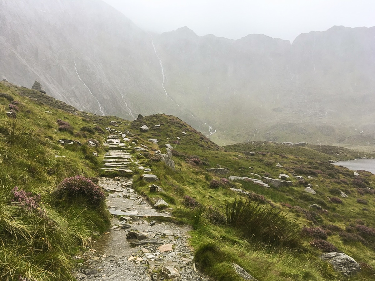 Glyder Fawr on Cwm Idwal walk in Snowdonia, United Kingdom