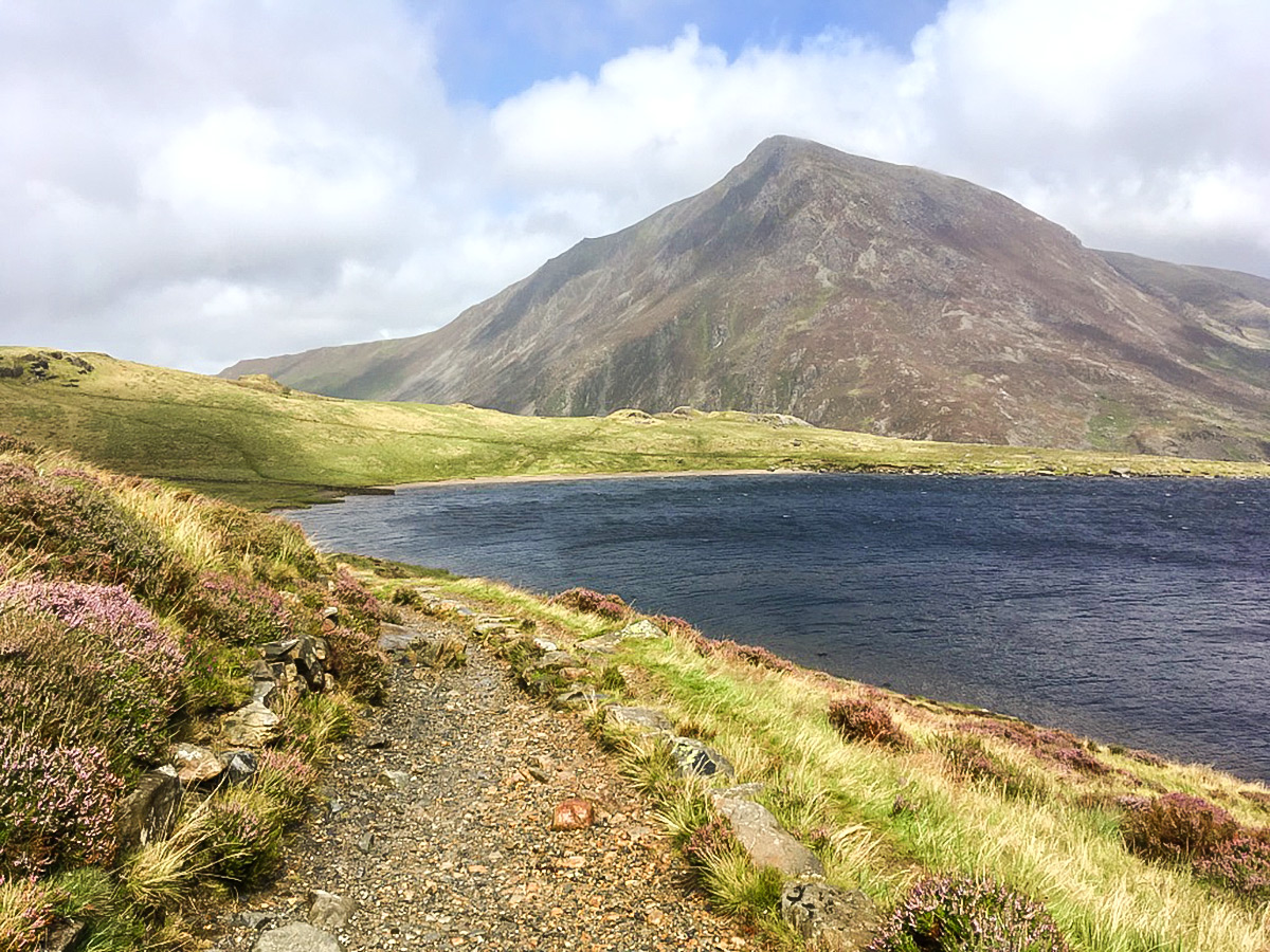 East shore of Llyn Idwal on Cwm Idwal walk in Snowdonia, Wales