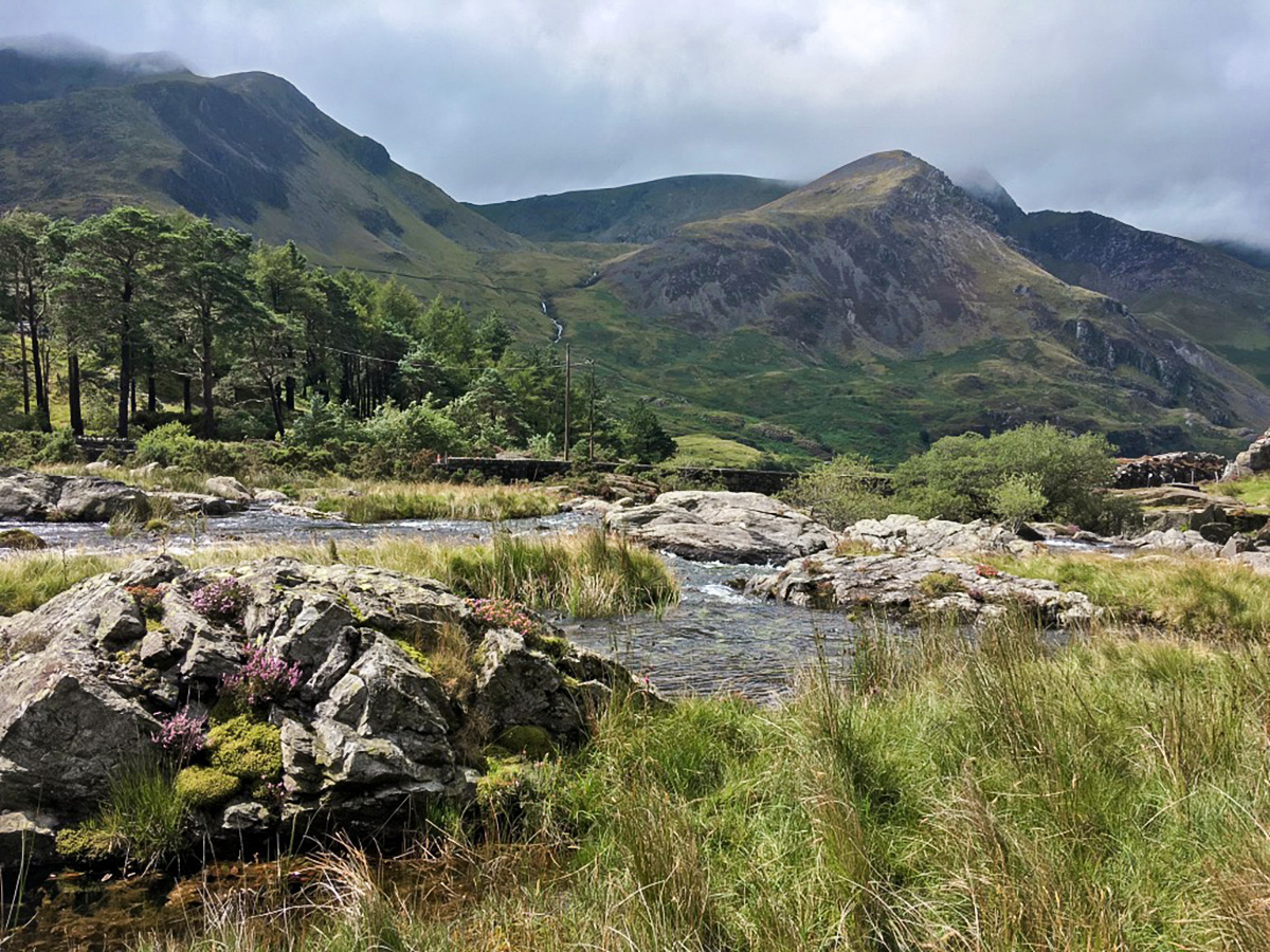 View of Llyn Ogwen walk in Snowdonia from the east