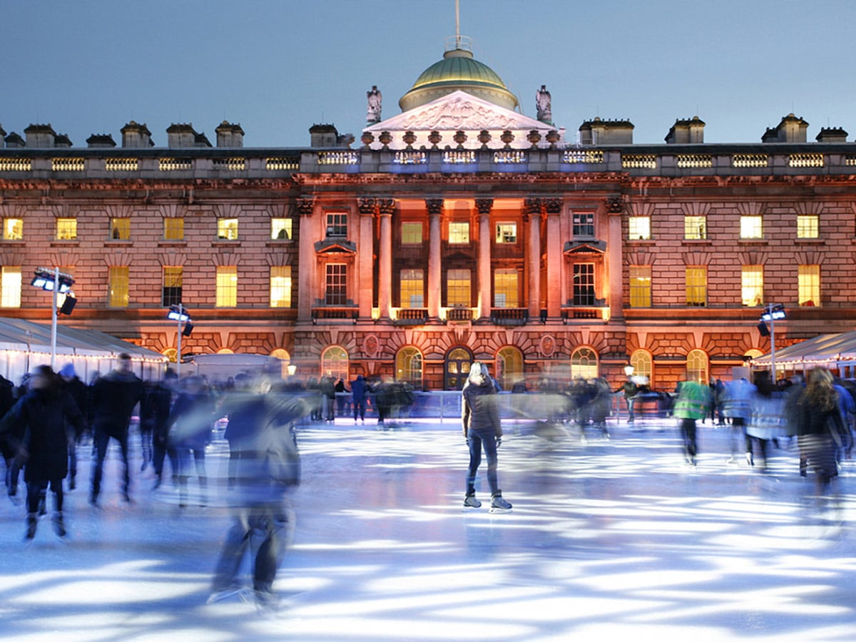 Ice Skating at Somerset House on Waterloo to Westminster walking tour in London, England