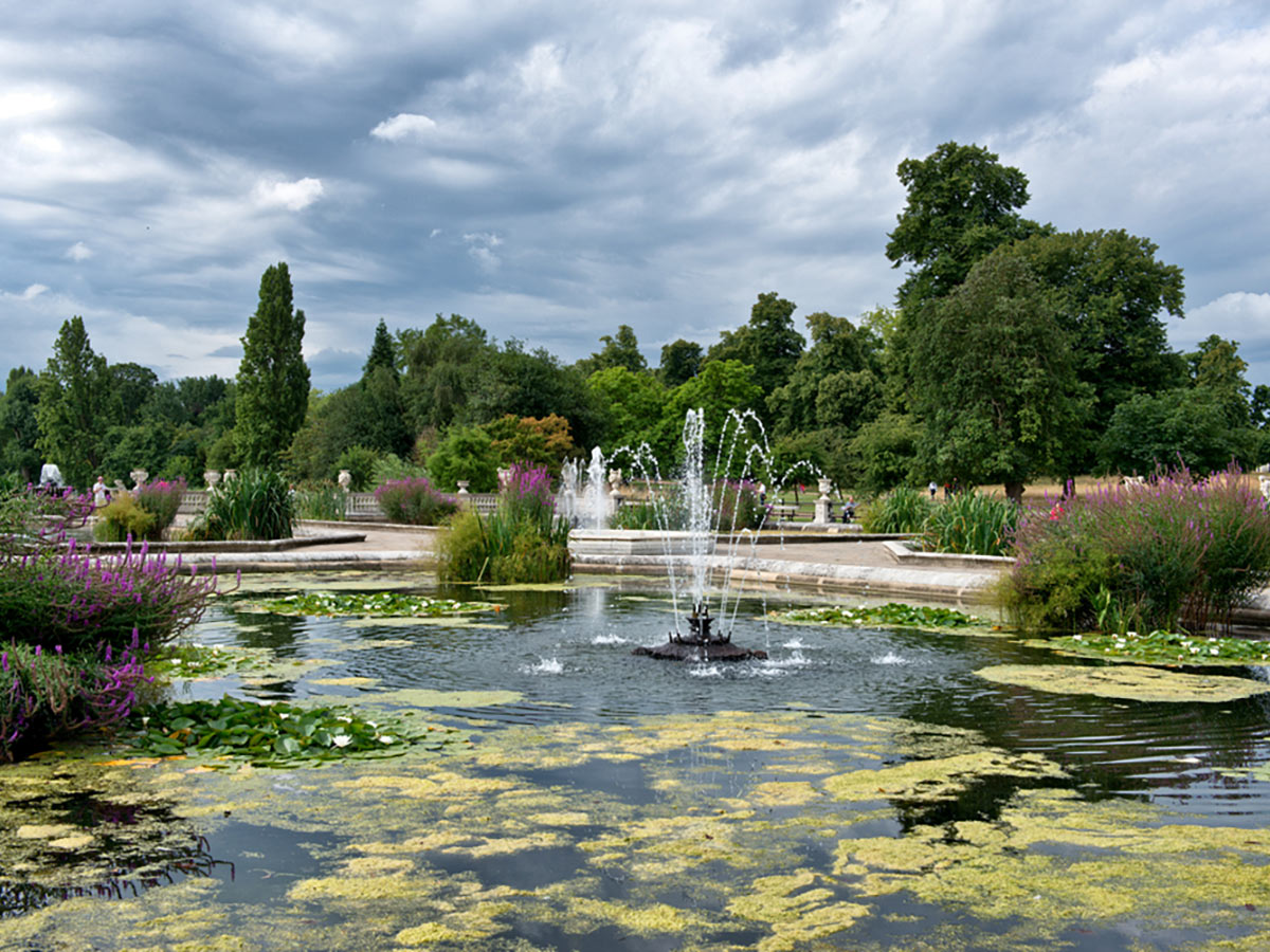 Italian Gardens at Hyde Park on St. James, Green, Hyde and Kensington parks walking tour in London, England