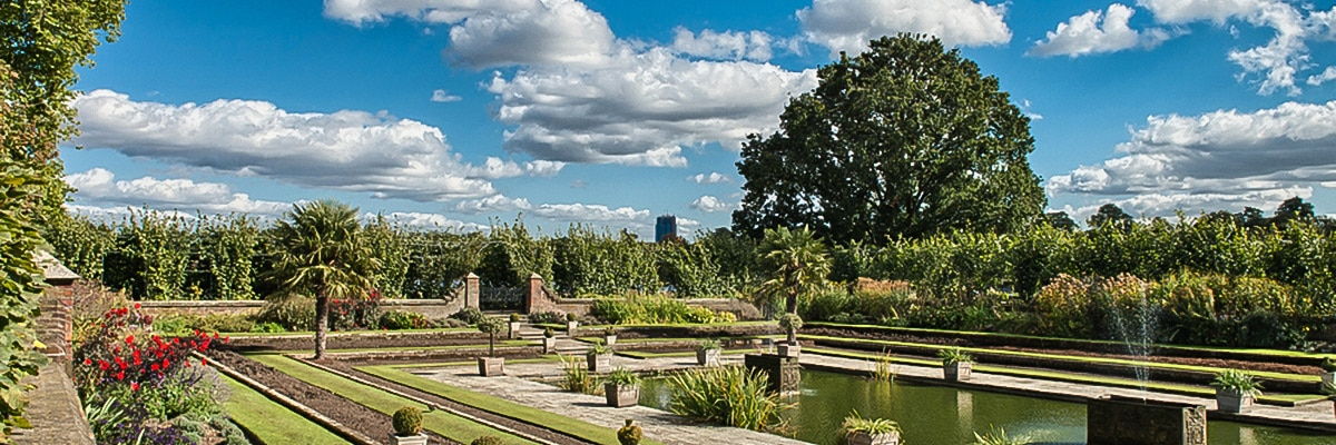 Beautiful views of Hyde Park on St. James, Green, Hyde and Kensington parks walking tour in London, England