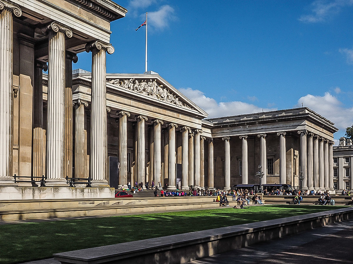 British Museum on Baker Street, Regents Park, Fitzrovia and the British Museum walking tour in London, England