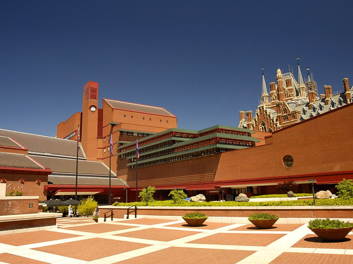 British Library on King's Cross to the City of London walking tour in London, England