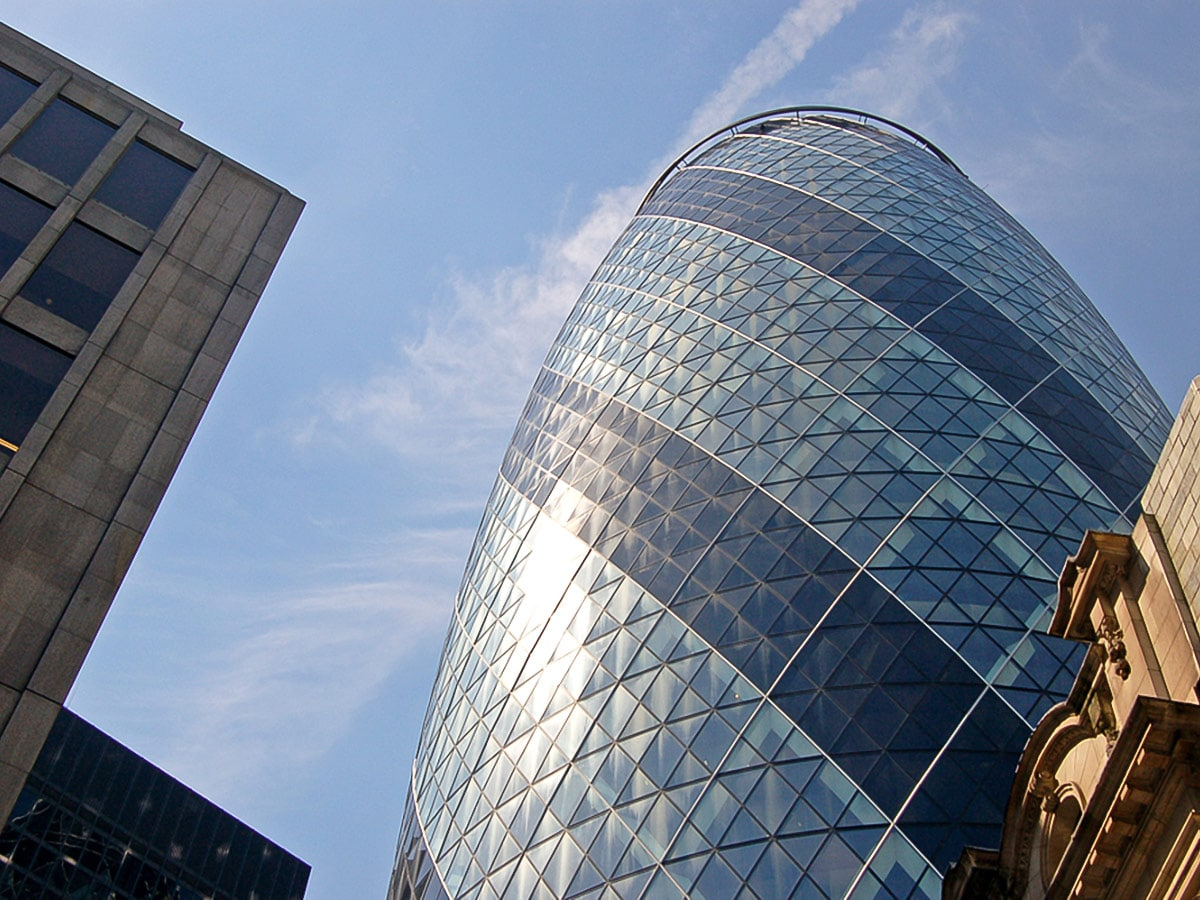 The Gherkin on King's Cross to the City of London walking tour in London, England