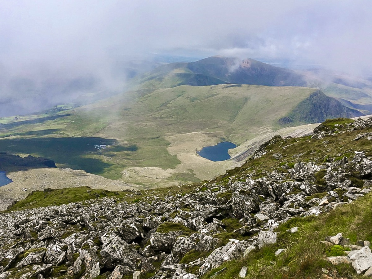 Snowdon via Pyg Track and Miner's Track hike in Snowdonia has beautiful views from the top