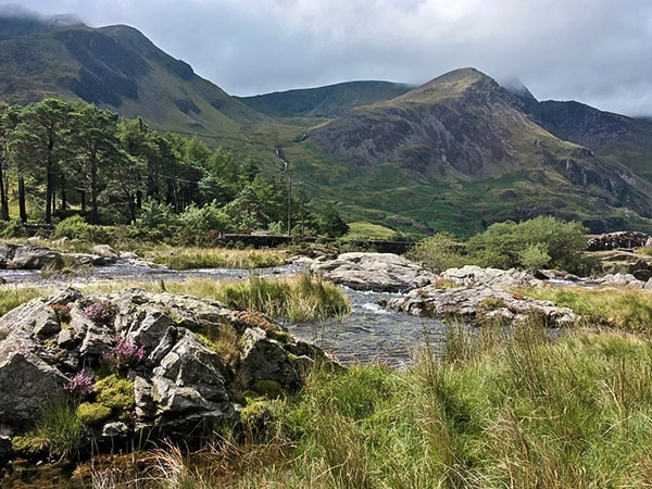 Scenery of Llyn Ogwen walk in Snowdonia, Wales