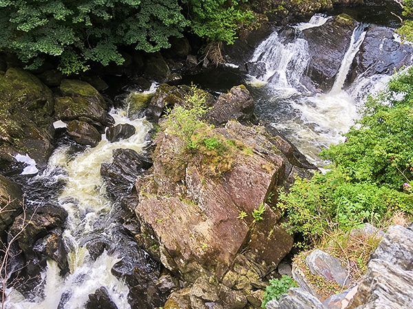 Great scenery on Swallow Falls hike in Snowdonia National Park in Wales