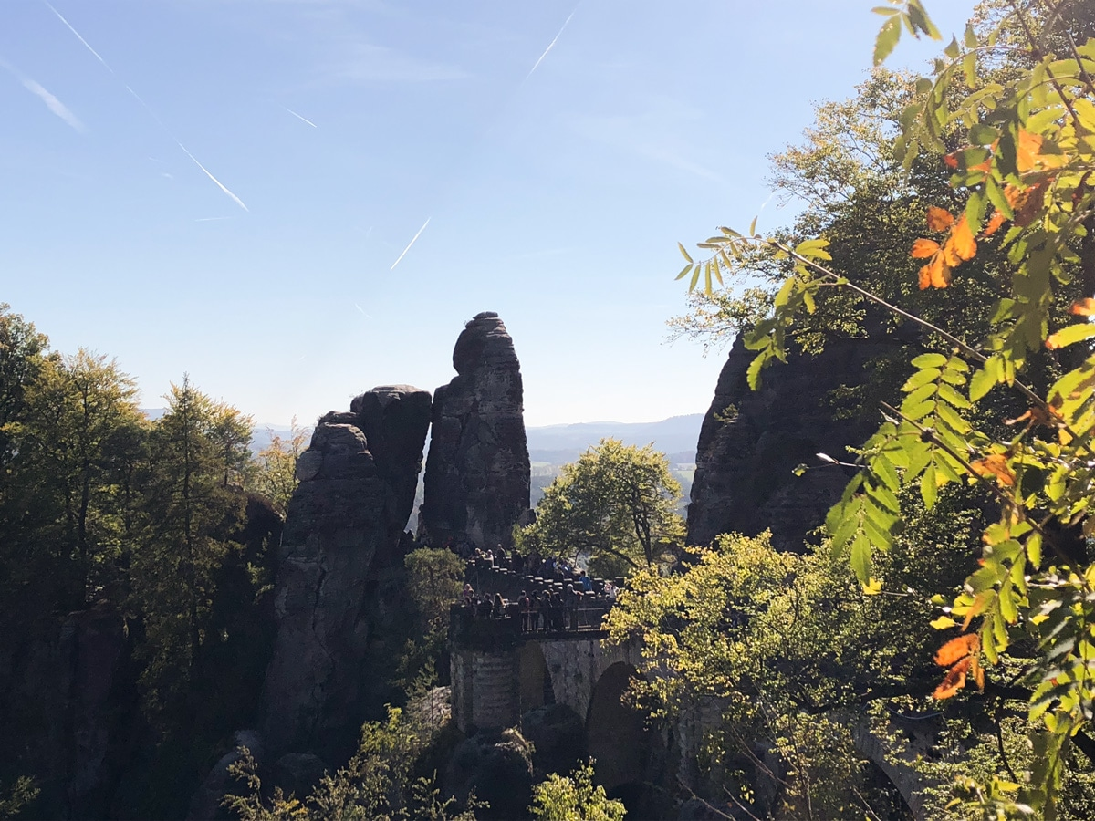 The iconic, if rather crowded, Bastei Bridge