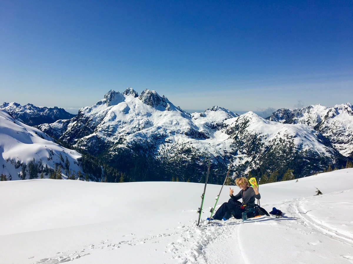 Ski touring from the 5040 Hut on Vancouver Island