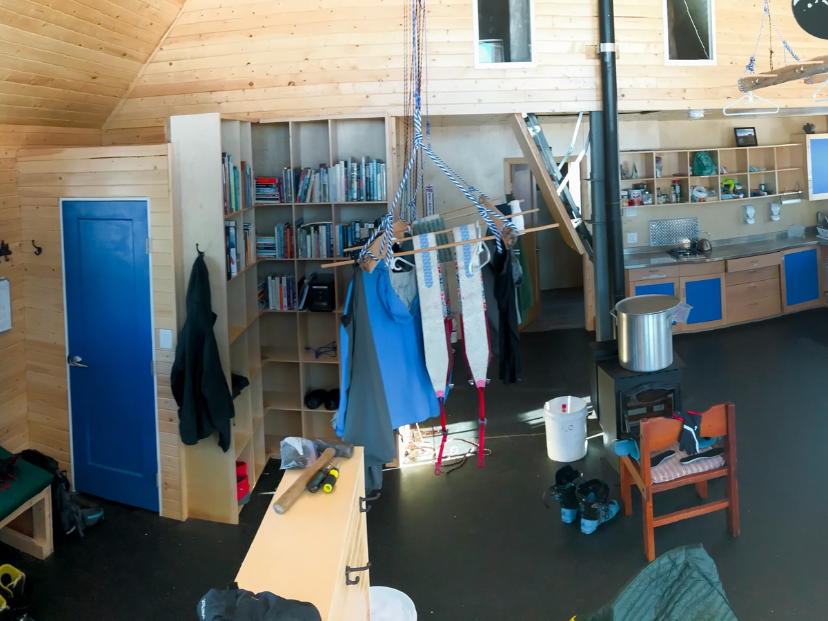 Inside the new ACC 5040 Hut on Vancouver Island