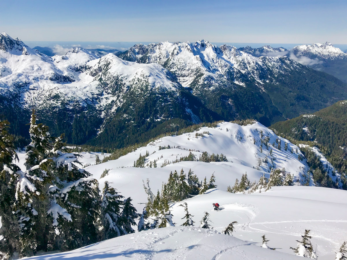 Big Powder turns ski touring on Vancouver Island