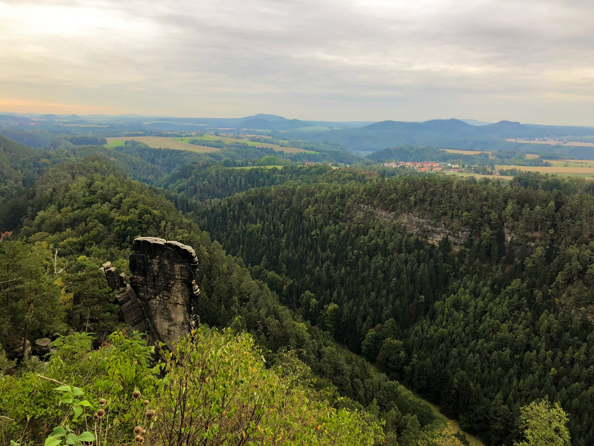 Wonderful views on the Malerweg hike