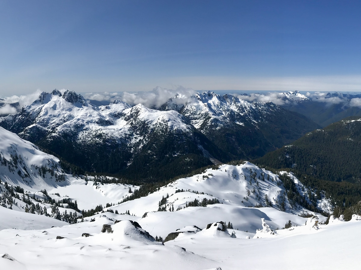 Another great view backcountry skiing on Vancouver Island