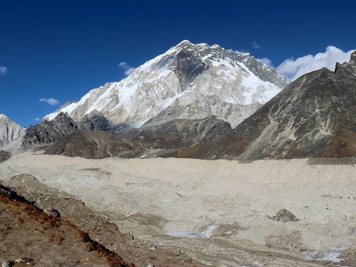 The stunning Khumbu Glacier