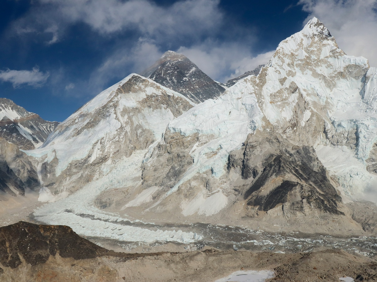 View of Everst and EBC from Kala Patthar