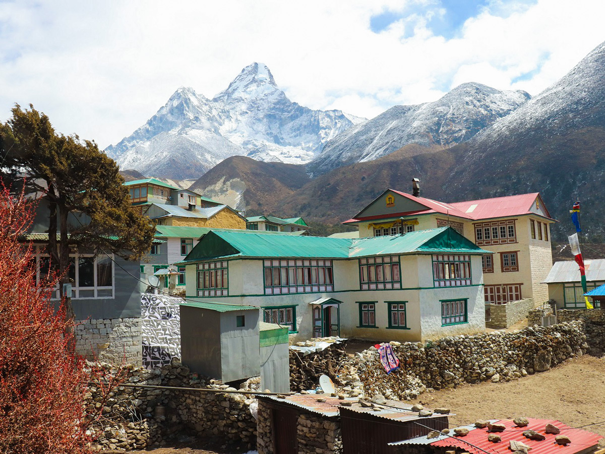 The village of Pangboche on the trek to Everest Base Camp and Kala Patthar