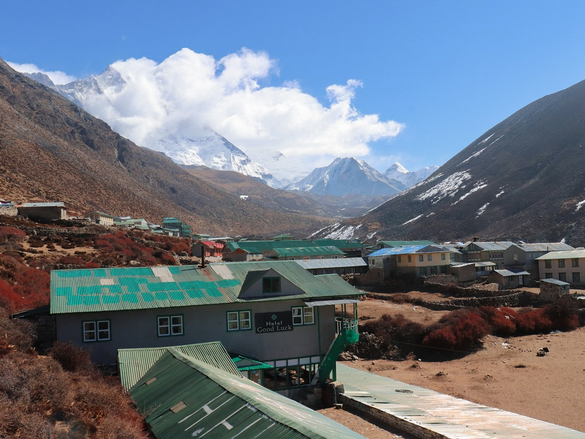 The village of Dingboche on the EBC Trek