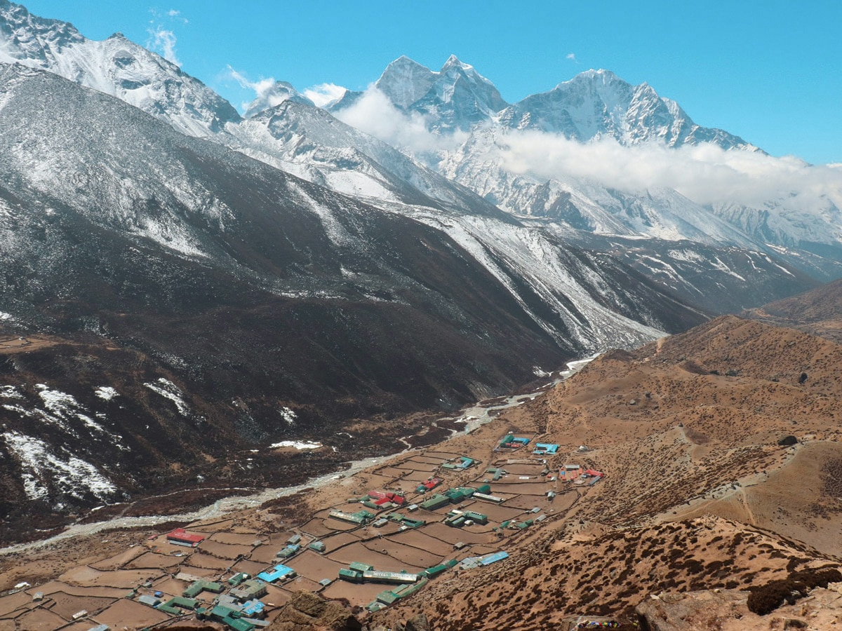 Looking down on Dingboche