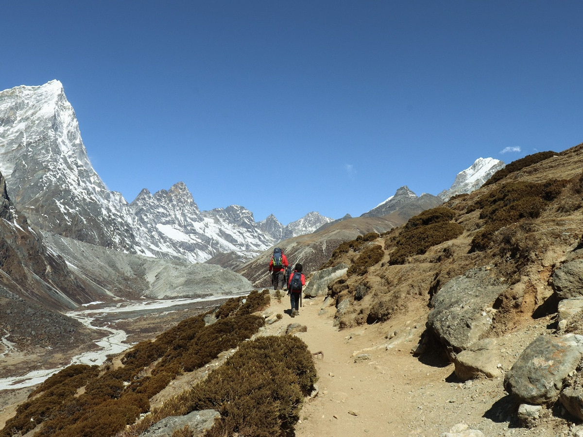 Trekking to Lobuche in the Himalayas