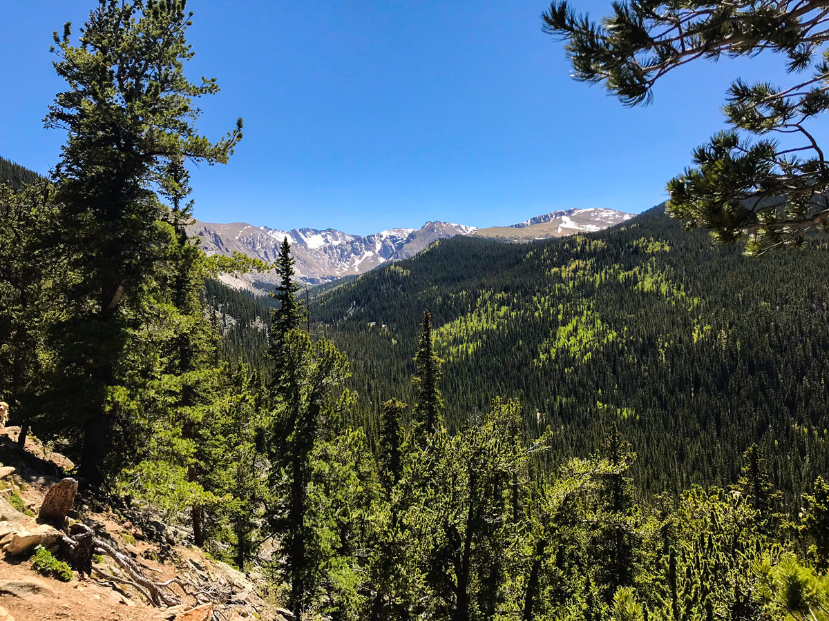 Chicago Lakes hike near Denver has beautiful valley views