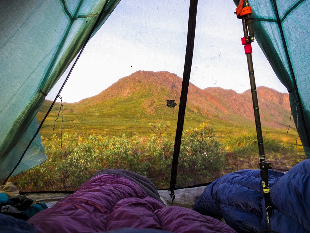 Tent view from Lisa Germany's trek in West Greenland