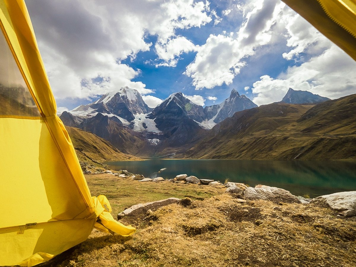 Beautiful views on a trek to Huayhuash in Peru