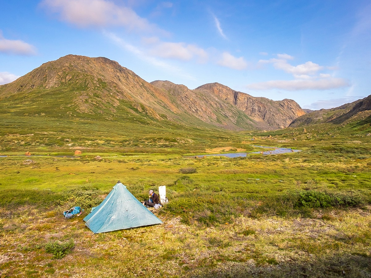 Wild camp on Arctic Circle trail in West Greenland