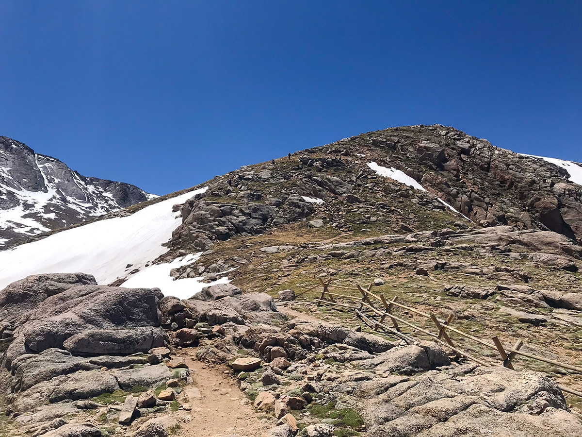 Path to the summit on Mount Evans hike in Denver, Colorado