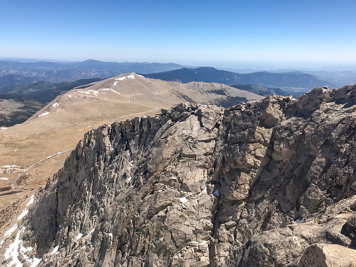 Expansive views from Mount Evans hike in Denver, Colorado