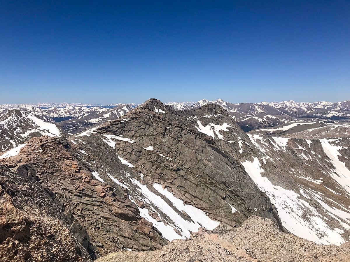 Mountains around Mount Evans hike near Denver getting covered by snow