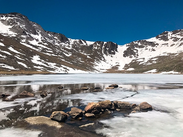 Scenery on Mount Evans hike in Denver, Colorado
