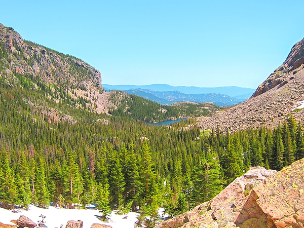 Hiking routes in Rocky Mountain National Park, Colorado