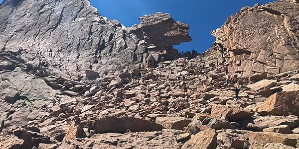 Longs Peak scramble in Rocky Mountain National Park
