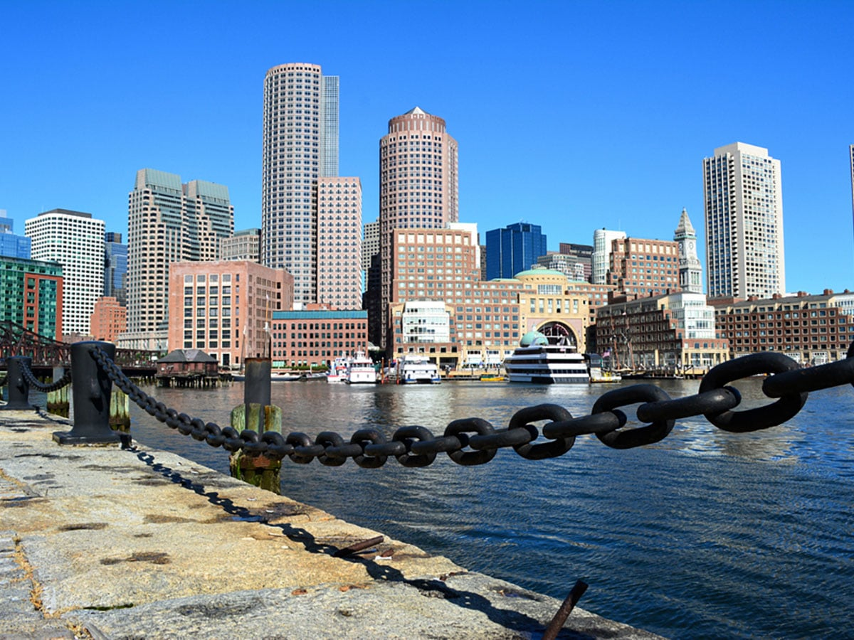 Seaport on Financial District to Theatre District city walk in Boston