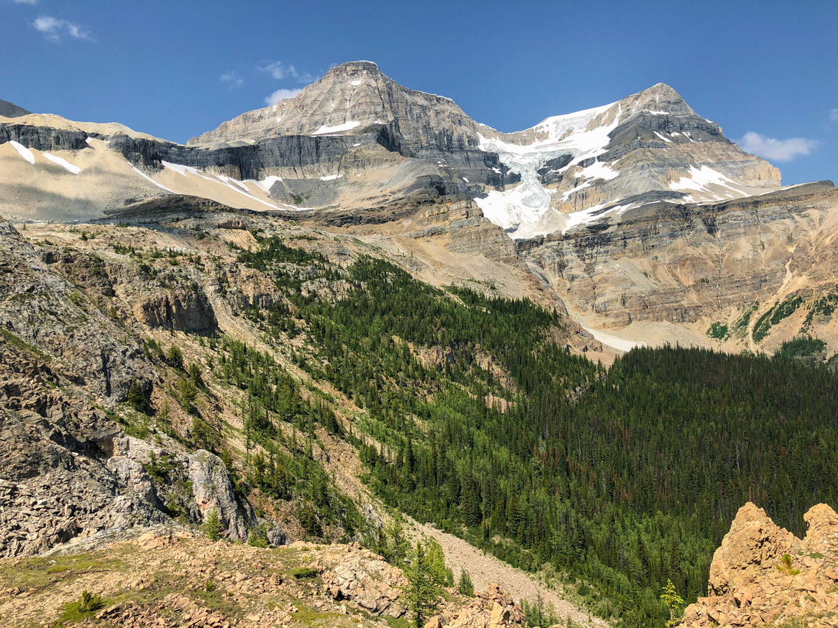 View from the top of Ball Pass hike in Kootenay National Park, the Canadian Rockies