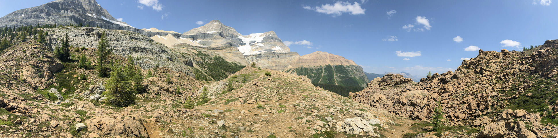Panorama on Ball Pass hike in Kootenay National Park, the Canadian Rockies