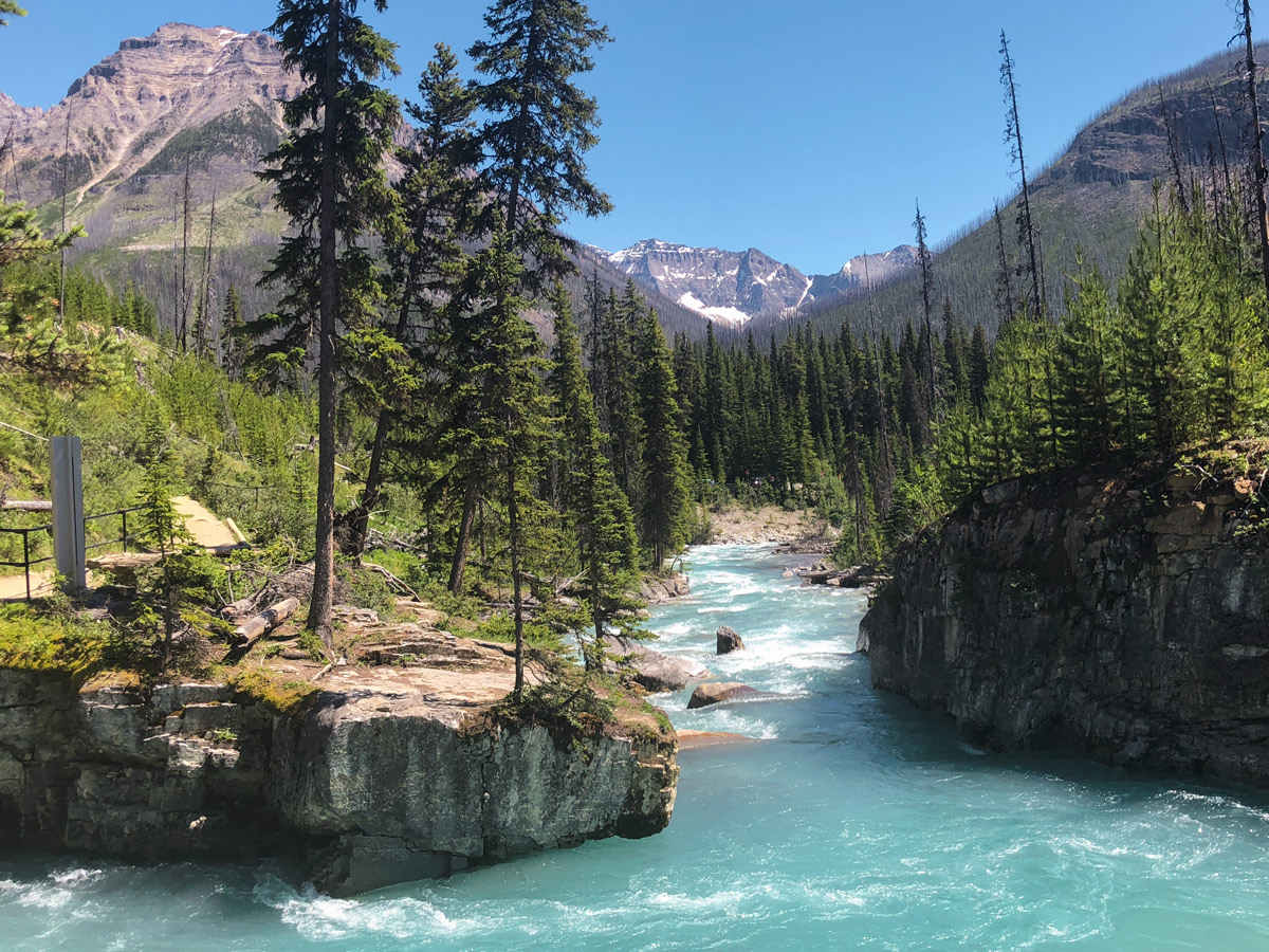 Beautiful river on Marble Canyon hike in Kootenay National Park