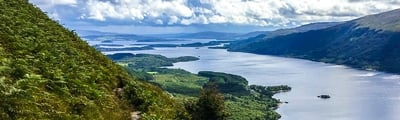 Hiking trails around Loch Lomond and the Trossachs in Schotland