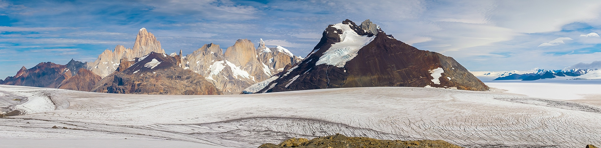 Panoramic view of Southern Patagonia Icefield Expedition