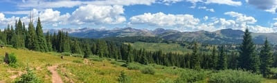 Hiking trails in Vail, Colorado