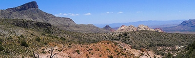 Hiking trails in Nevada, US