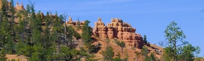 Hiking routes in Bryce Canyon, Utah
